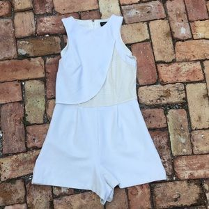 Top Shop Romper Cream Off-white sleeveless sz 8